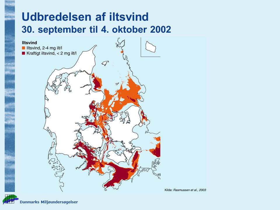 Udbredelsen af iltsvind 30. september til 4. oktober 2002