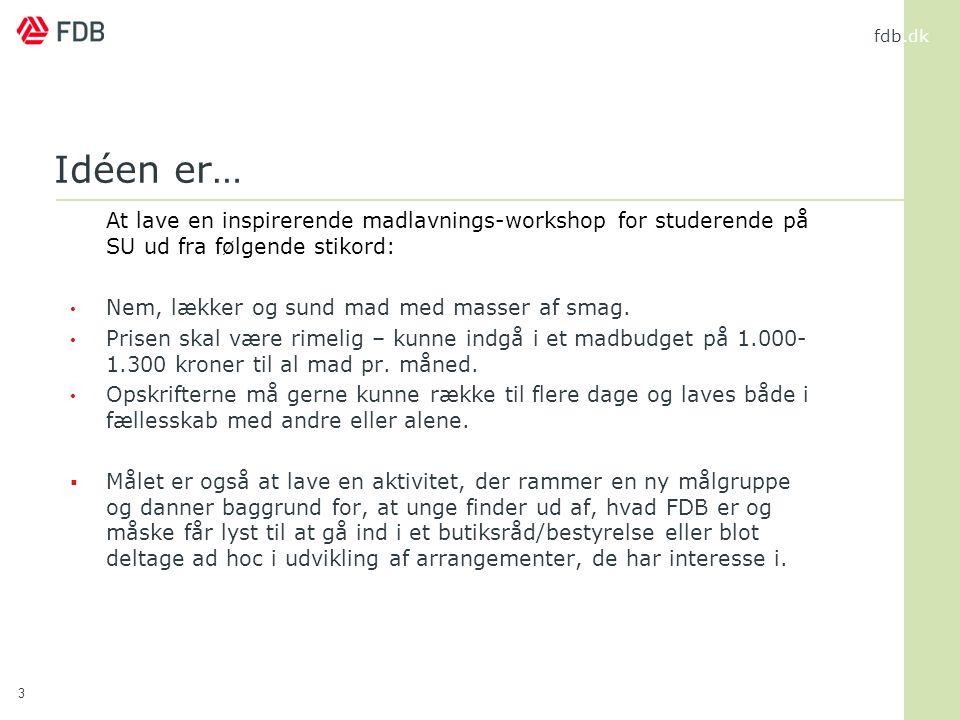 Idéen er… At lave en inspirerende madlavnings-workshop for studerende på SU ud fra følgende stikord: