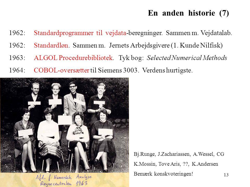 En anden historie (7) 1962: Standardprogrammer til vejdata-beregninger. Sammen m. Vejdatalab.