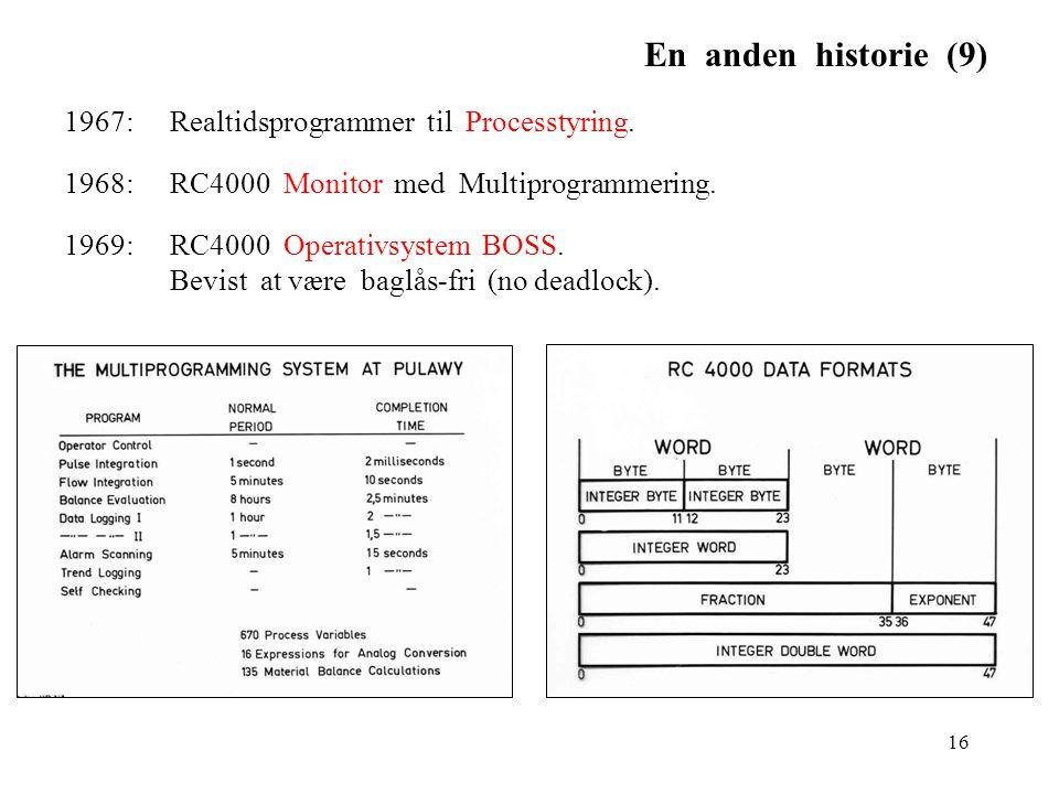 En anden historie (9) 1967: Realtidsprogrammer til Processtyring.