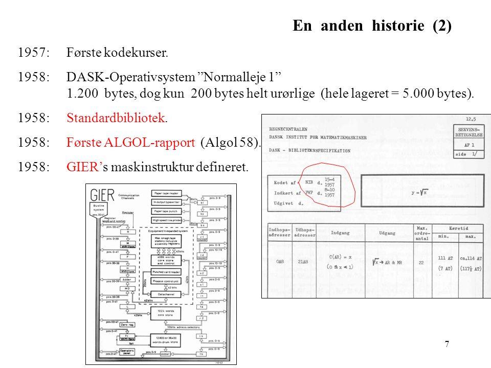 En anden historie (2) 1957: Første kodekurser.