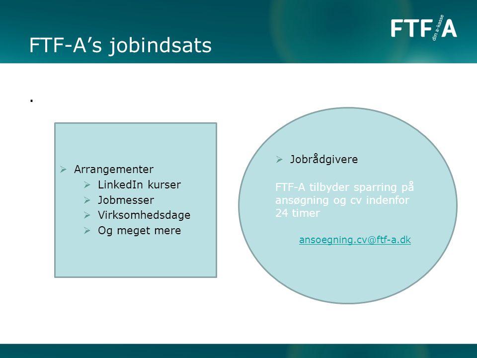 FTF-A's jobindsats . Jobrådgivere Arrangementer