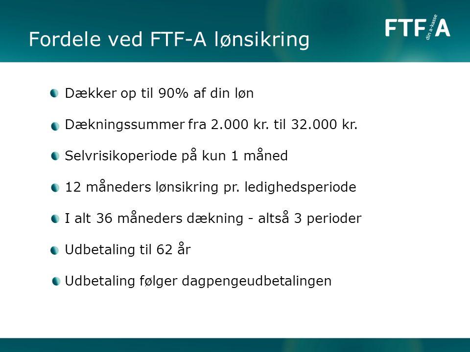 Fordele ved FTF-A lønsikring