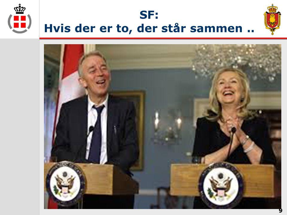 SF: Hvis der er to, der står sammen ..