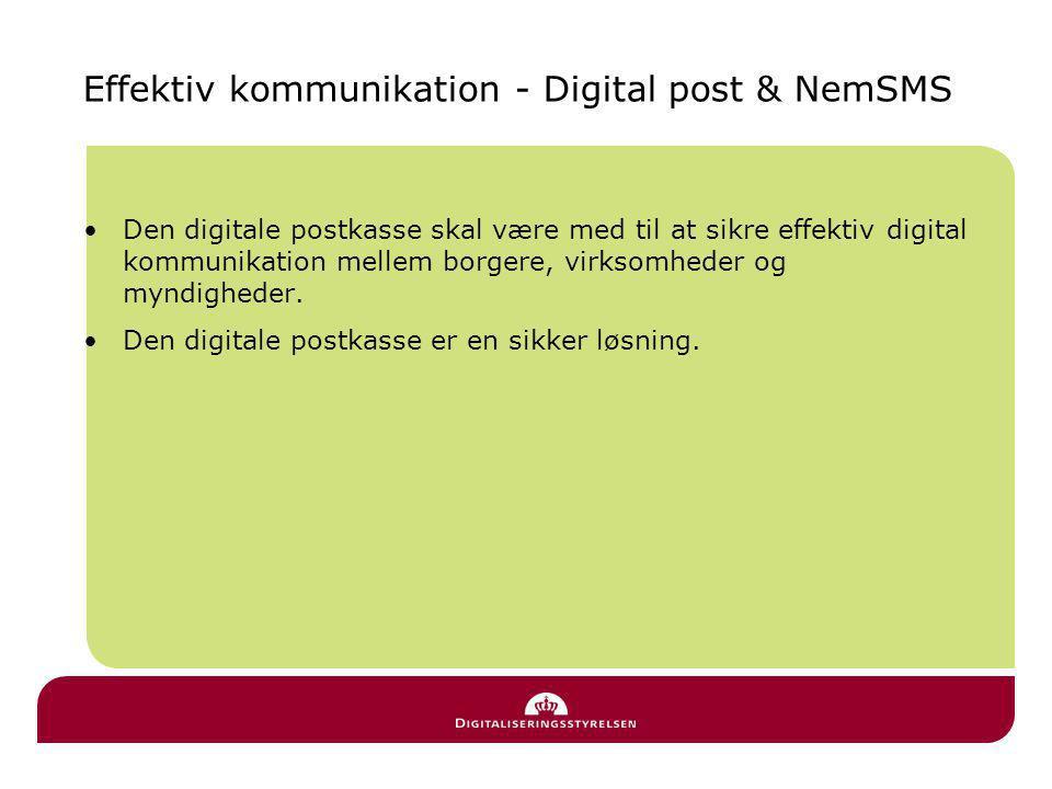 Effektiv kommunikation - Digital post & NemSMS