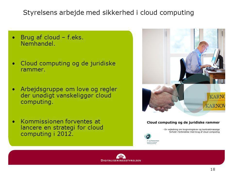 Styrelsens arbejde med sikkerhed i cloud computing