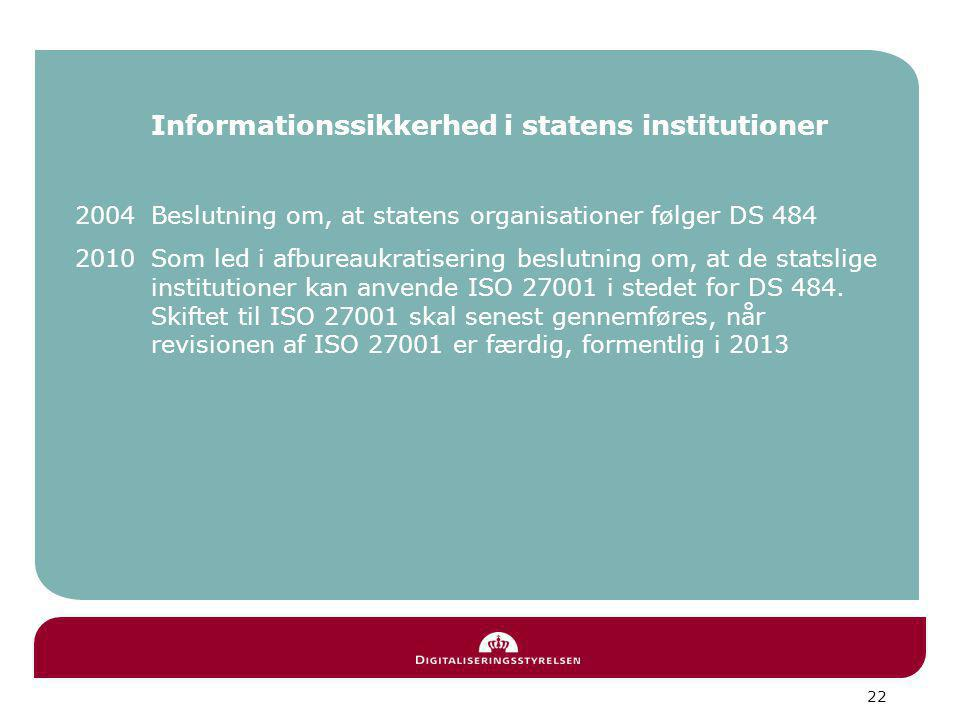 Informationssikkerhed i statens institutioner