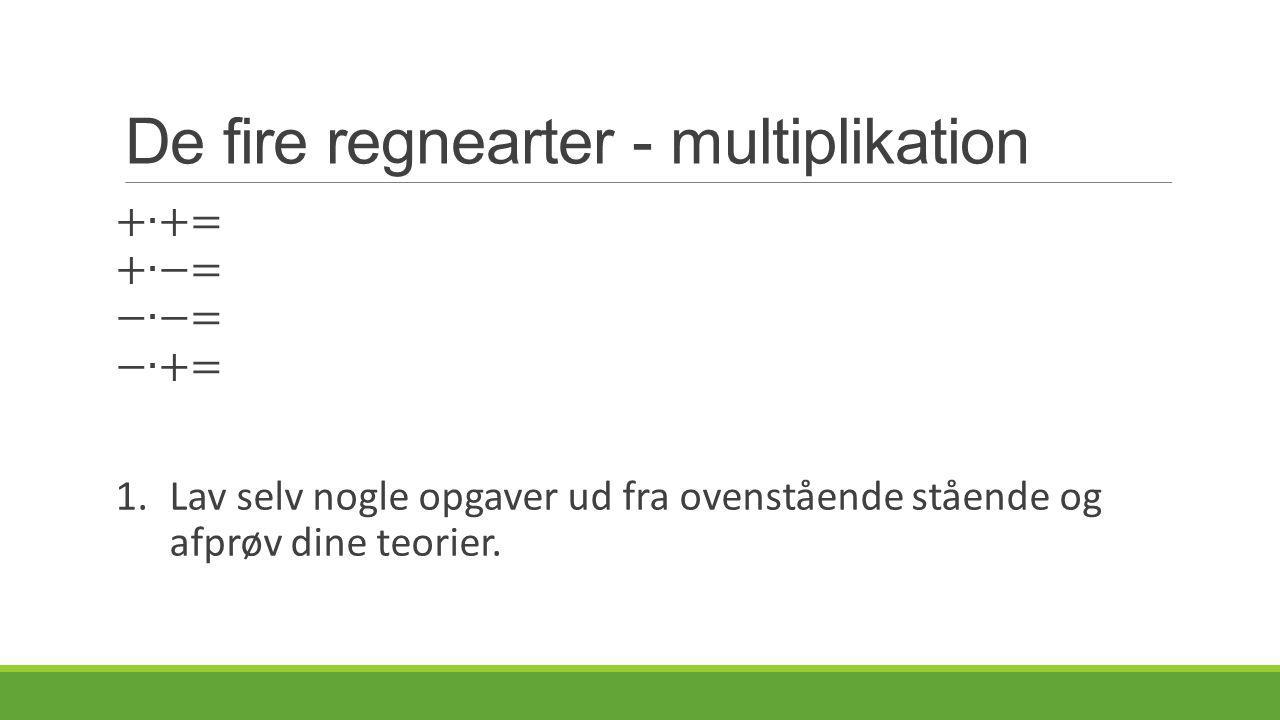 De fire regnearter - multiplikation