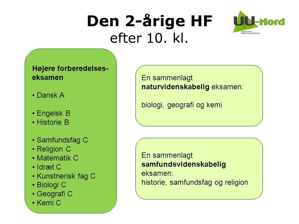 Den 2-årige HF efter 10. kl. Højere forberedelses-eksamen Dansk A