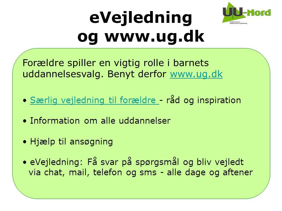 eVejledning og www.ug.dk