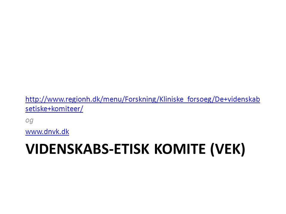 Videnskabs-etisk komite (VEK)