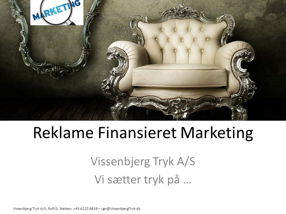 Reklame Finansieret Marketing