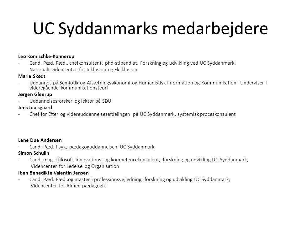 UC Syddanmarks medarbejdere