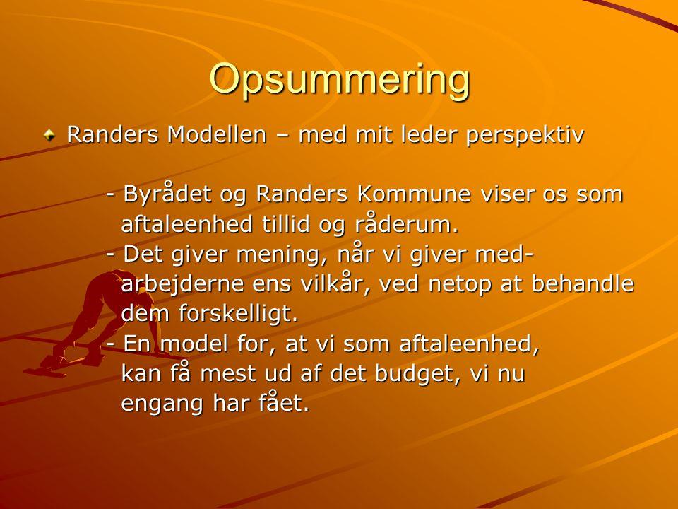 Opsummering Randers Modellen – med mit leder perspektiv
