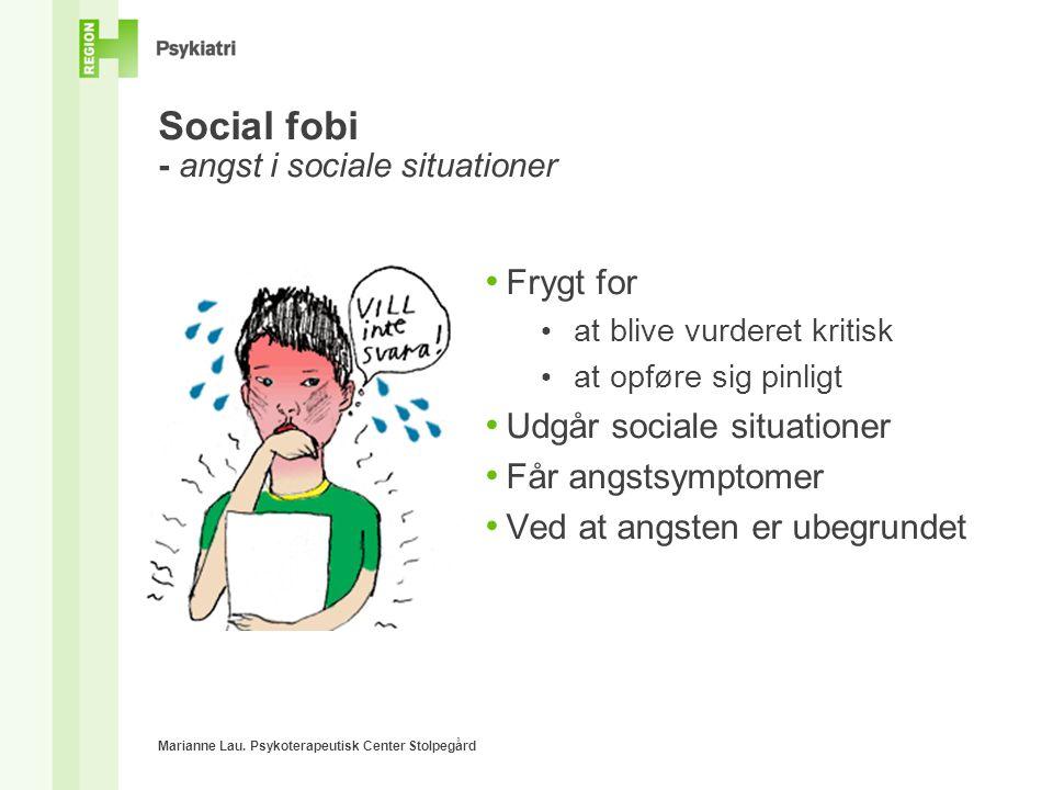 Social fobi - angst i sociale situationer