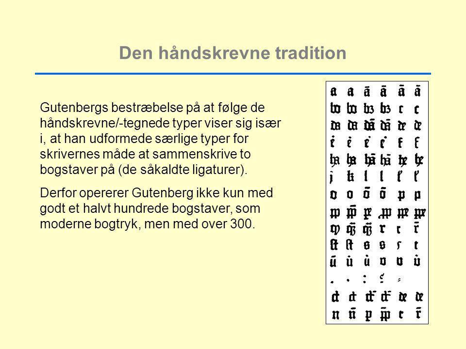 Den håndskrevne tradition