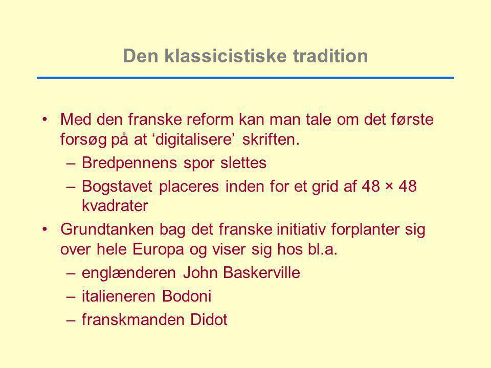 Den klassicistiske tradition