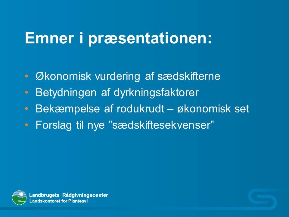 Emner i præsentationen: