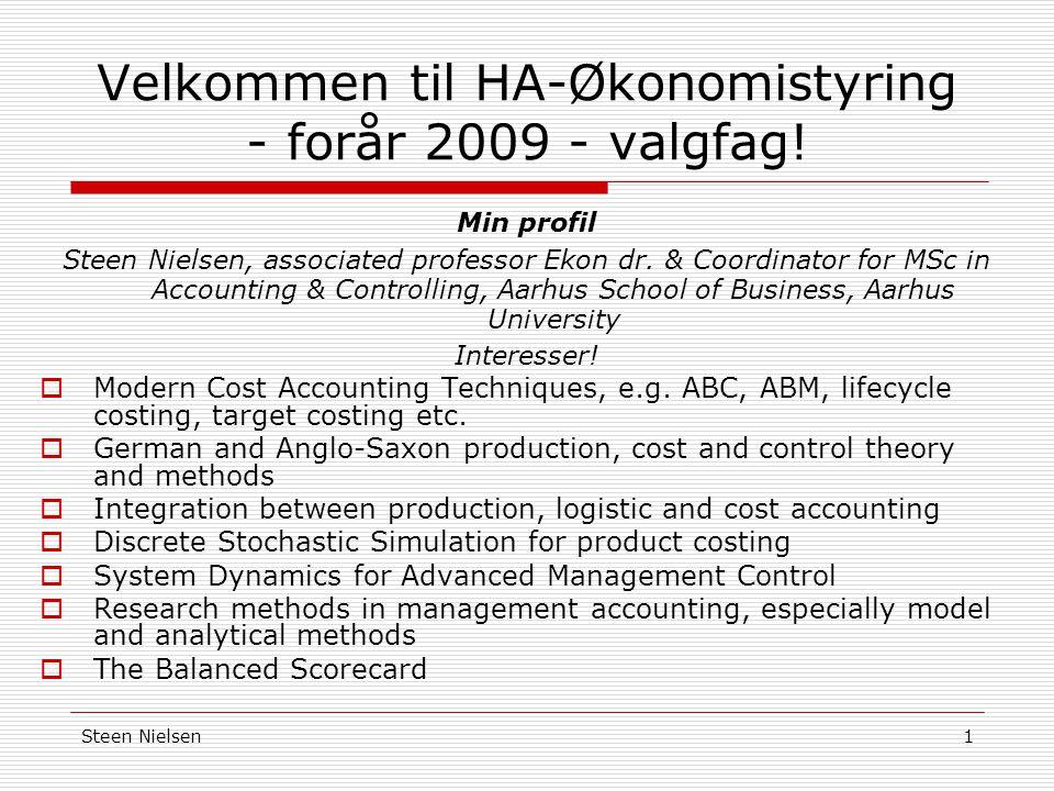 Velkommen til HA-Økonomistyring - forår 2009 - valgfag!