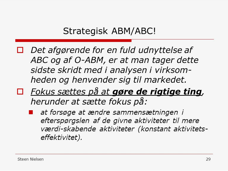 Strategisk ABM/ABC!