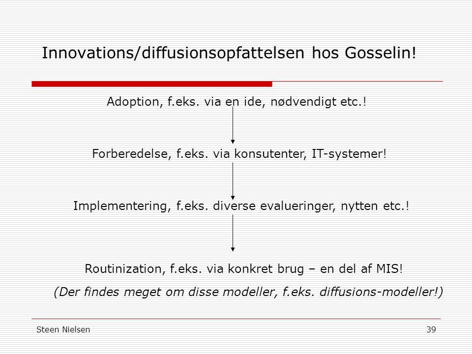 Innovations/diffusionsopfattelsen hos Gosselin!