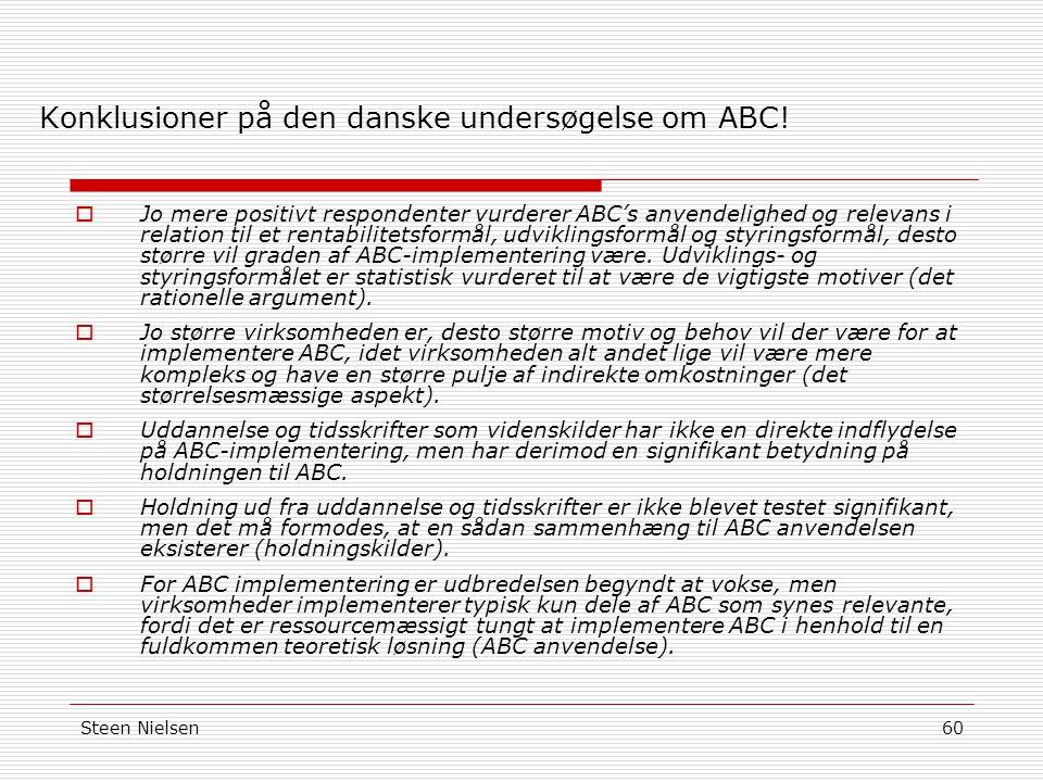 Konklusioner på den danske undersøgelse om ABC!