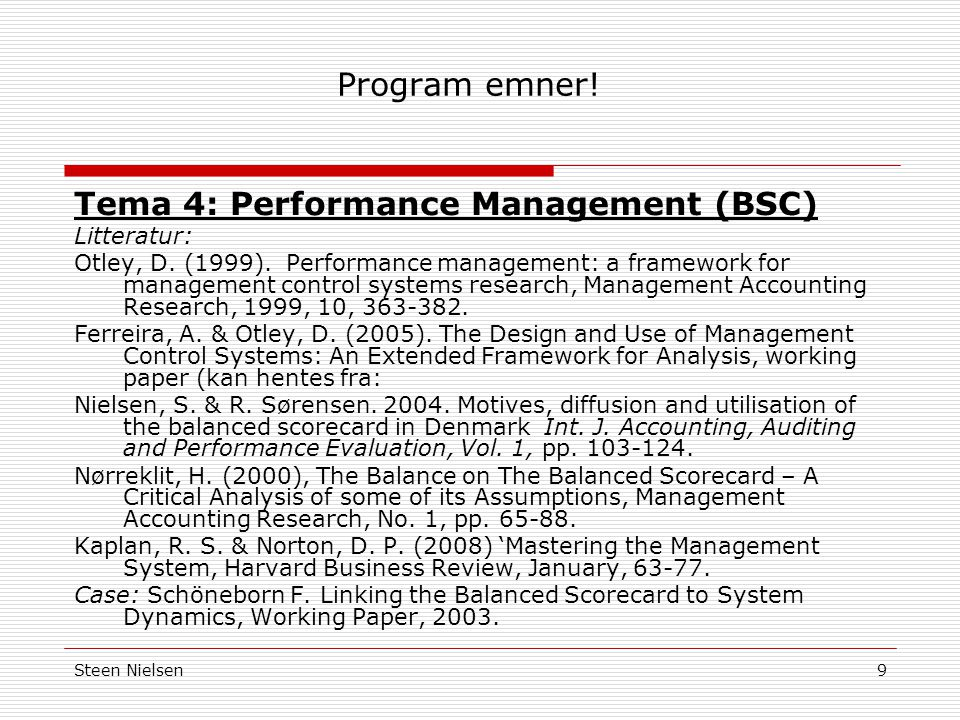 Tema 4: Performance Management (BSC)