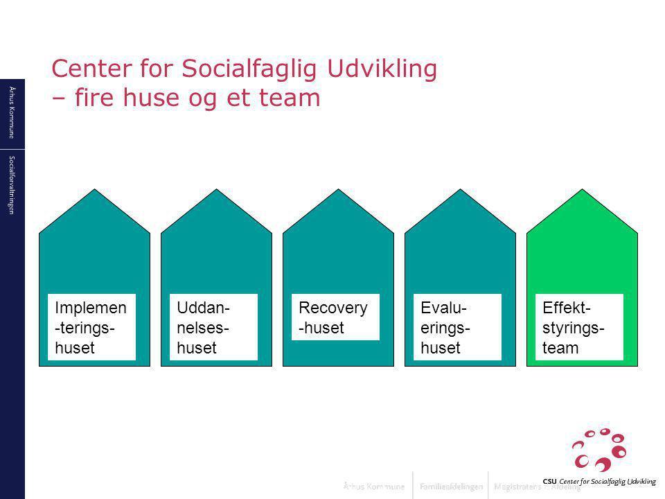 Center for Socialfaglig Udvikling – fire huse og et team