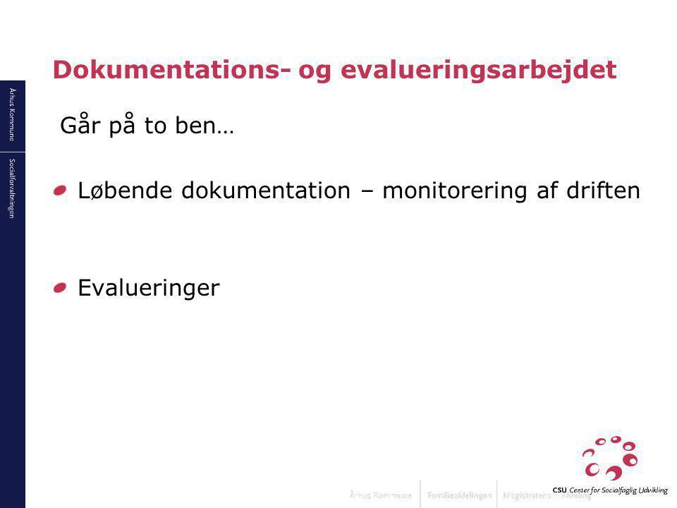 Dokumentations- og evalueringsarbejdet