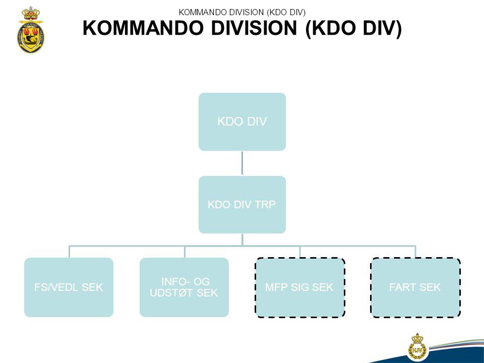 KOMMANDO DIVISION (KDO DIV)