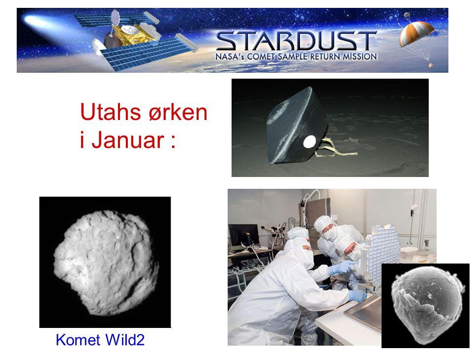 Utahs ørken i Januar : Komet Wild2