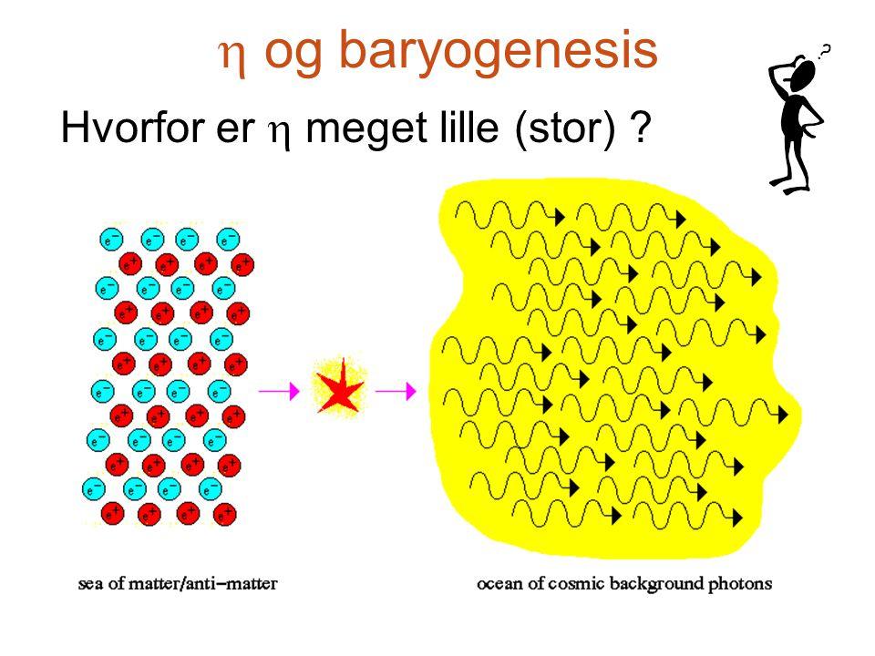  og baryogenesis Hvorfor er  meget lille (stor)