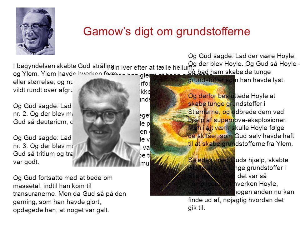 Gamow's digt om grundstofferne