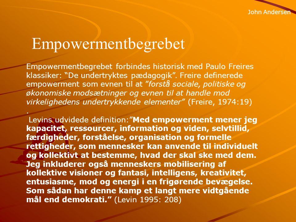 John Andersen Empowermentbegrebet.