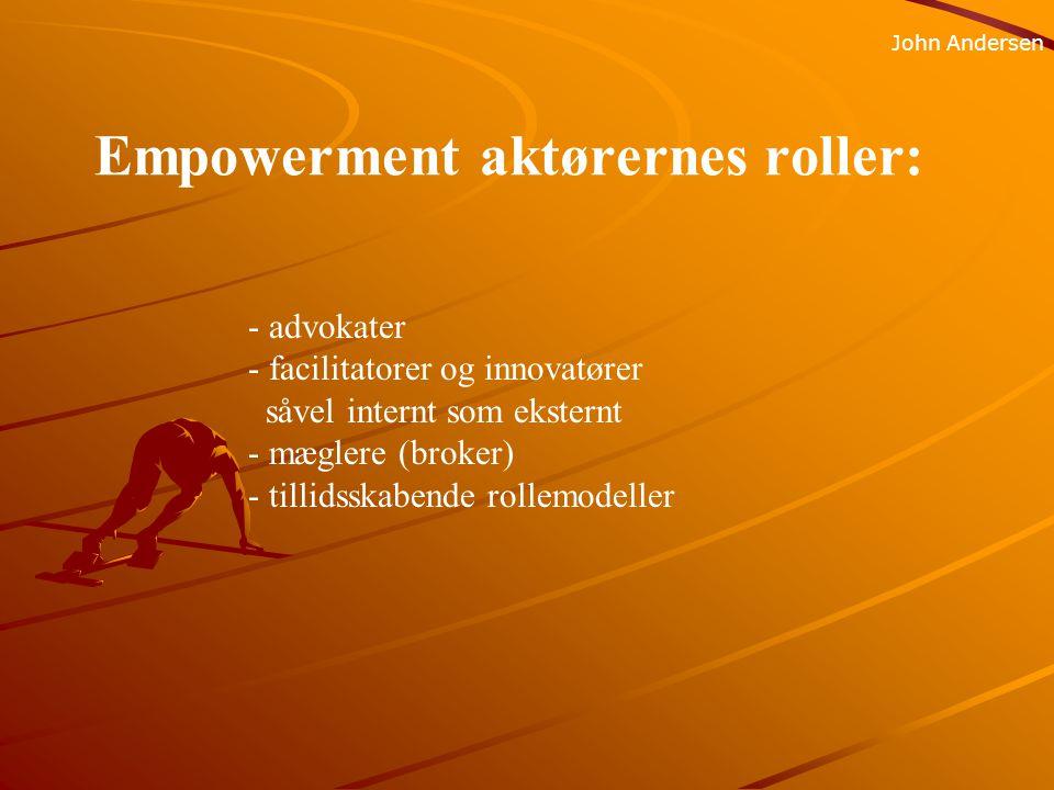 Empowerment aktørernes roller: