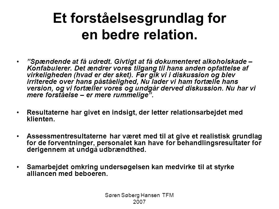Et forståelsesgrundlag for en bedre relation.