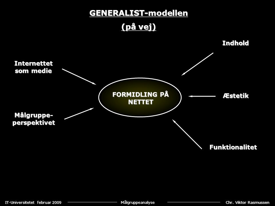 GENERALIST-modellen (på vej)