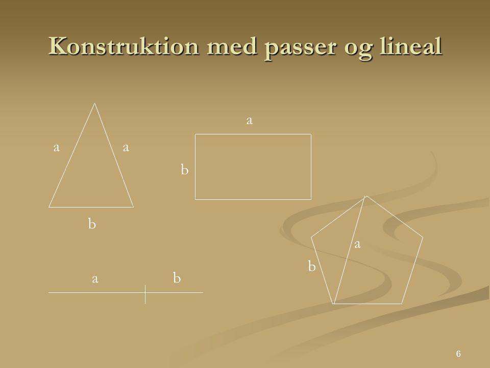 Konstruktion med passer og lineal