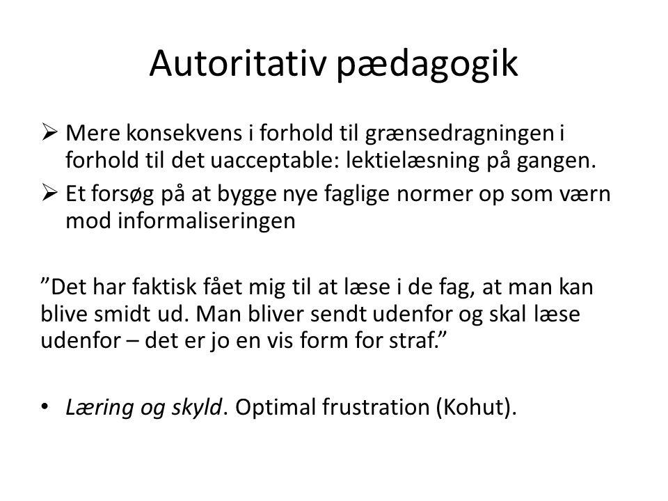 Autoritativ pædagogik