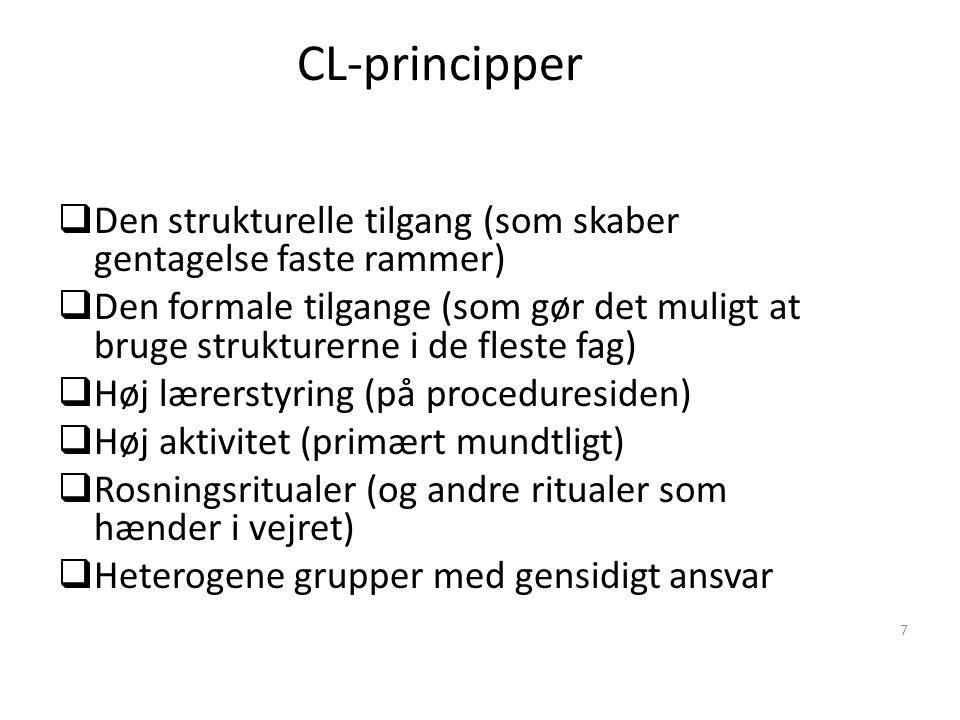 CL-principper Den strukturelle tilgang (som skaber gentagelse faste rammer)