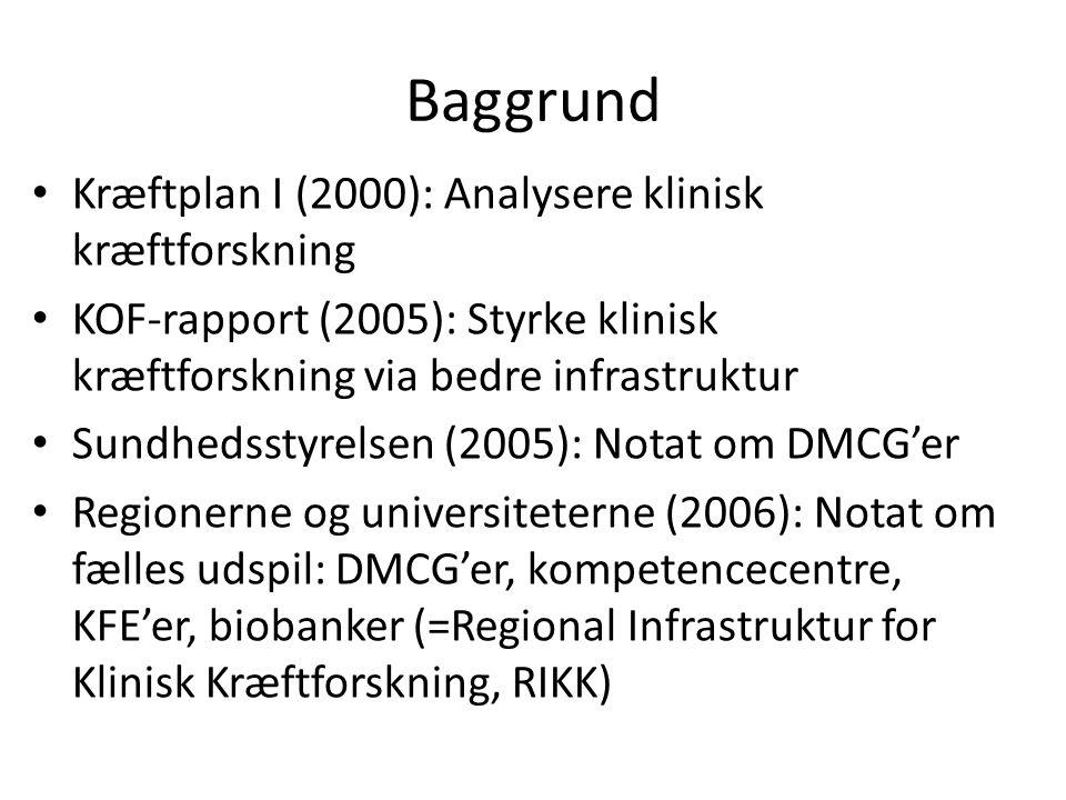 Baggrund Kræftplan I (2000): Analysere klinisk kræftforskning