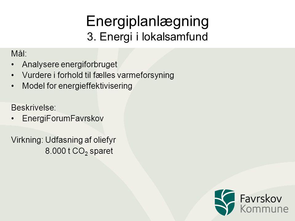 Energiplanlægning 3. Energi i lokalsamfund