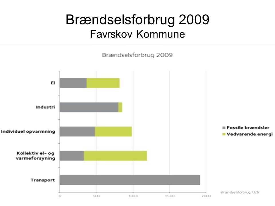 Brændselsforbrug 2009 Favrskov Kommune