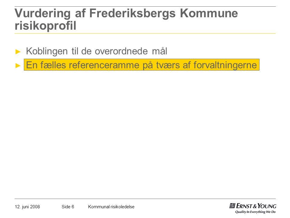Vurdering af Frederiksbergs Kommune risikoprofil