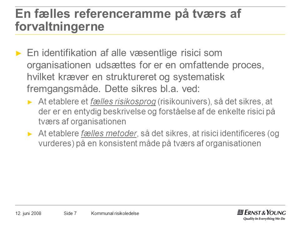 En fælles referenceramme på tværs af forvaltningerne
