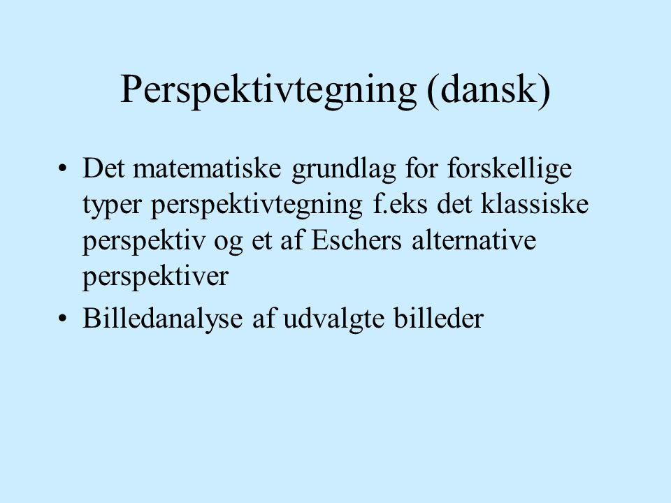 Perspektivtegning (dansk)