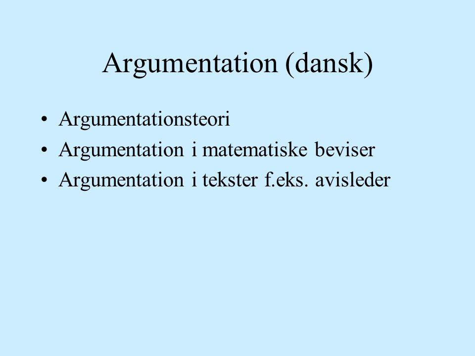 Argumentation (dansk)