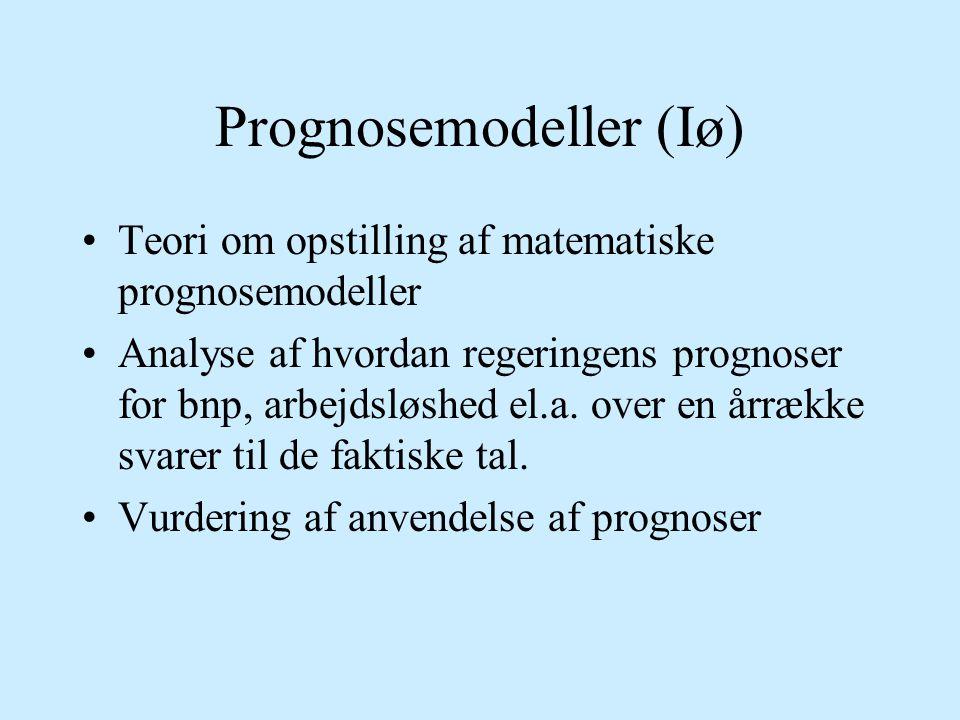 Prognosemodeller (Iø)