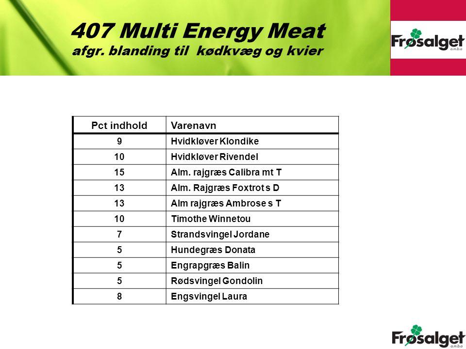 407 Multi Energy Meat afgr. blanding til kødkvæg og kvier