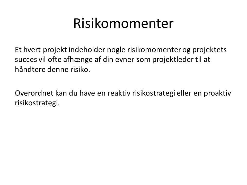 Risikomomenter